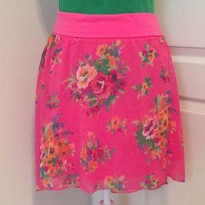 NWT! Aeropostale Hi Lo Floral Print Skirt